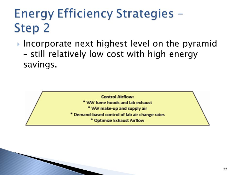 Energy Efficiency Strategies – Step 2