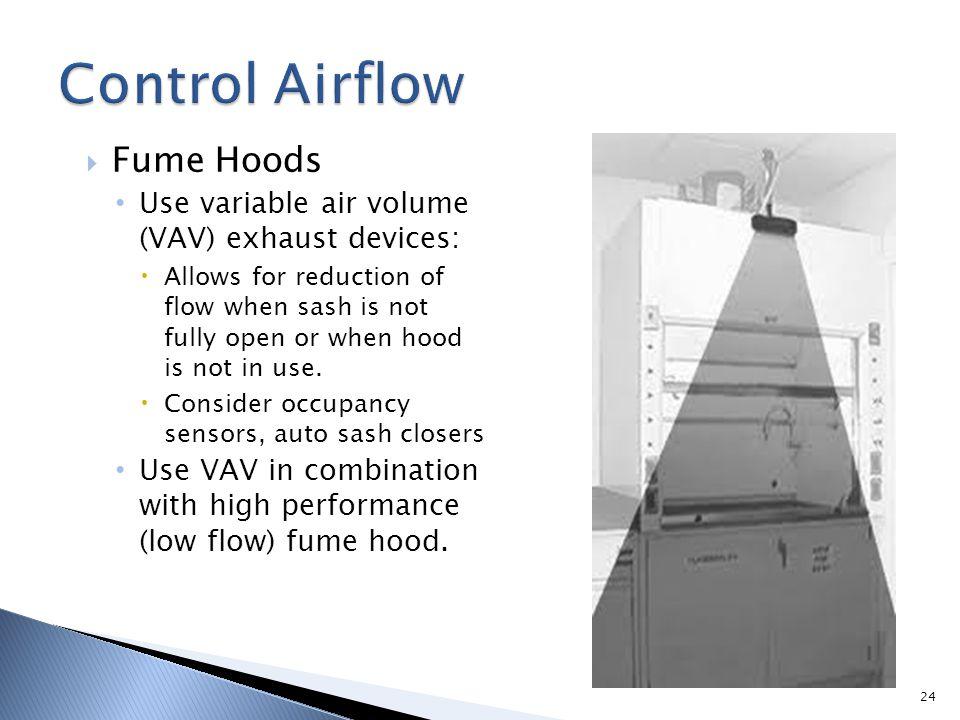 Control Airflow Fume Hoods