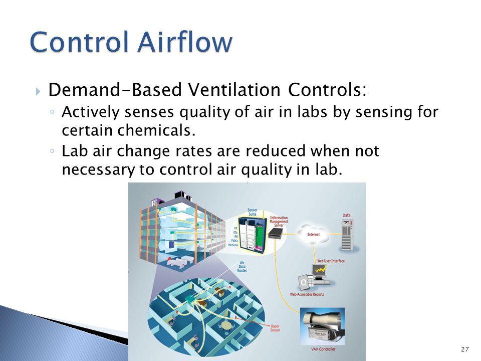 Control Airflow Demand-Based Ventilation Controls: