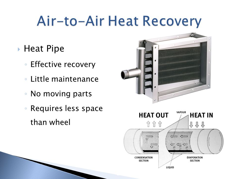 Air-to-Air Heat Recovery