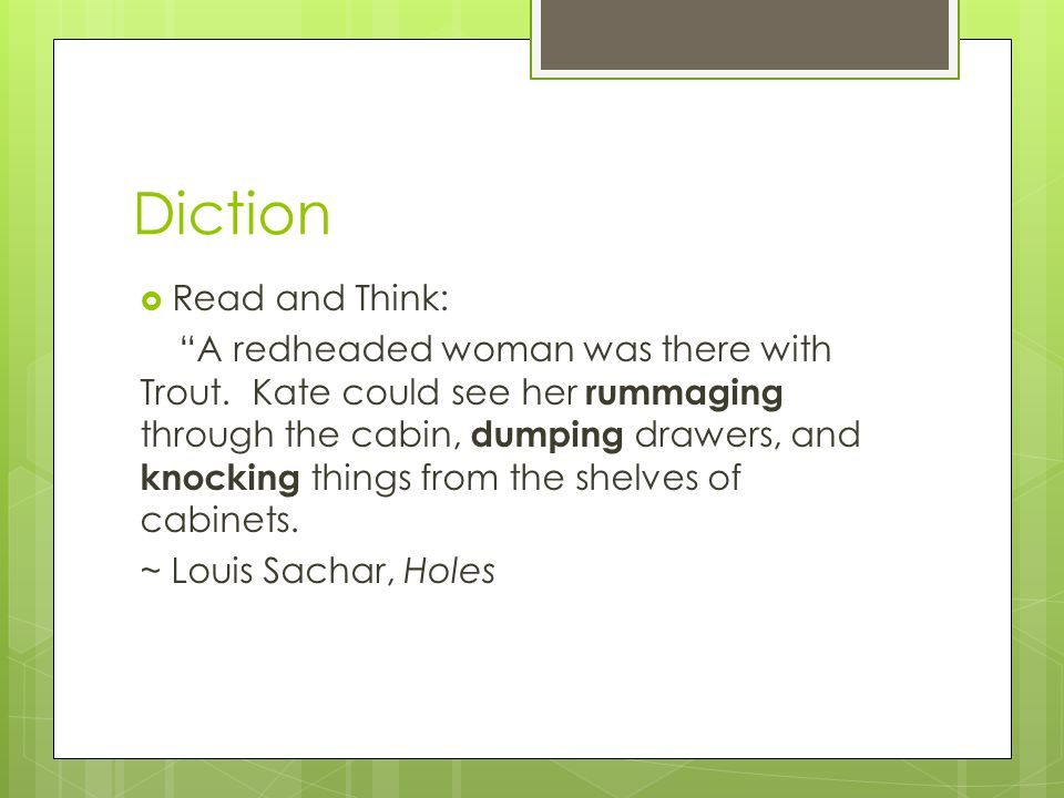 Diction Read and Think: