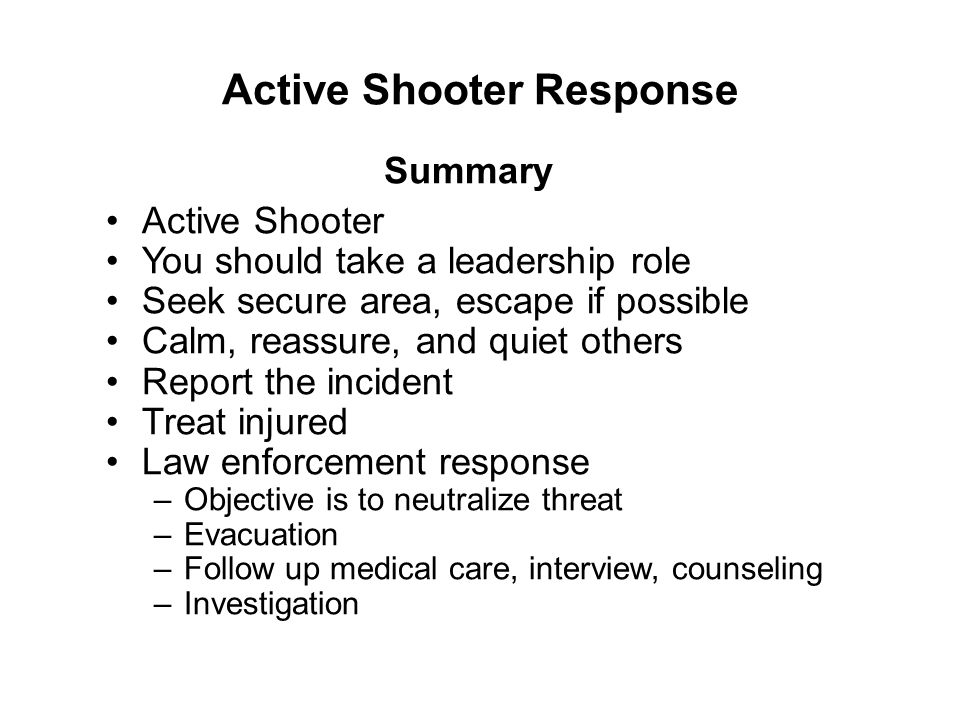 Active Shooter Response