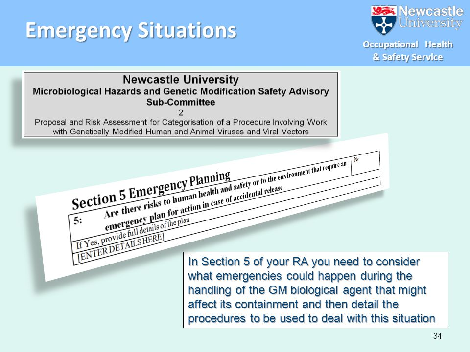 Emergency Situations