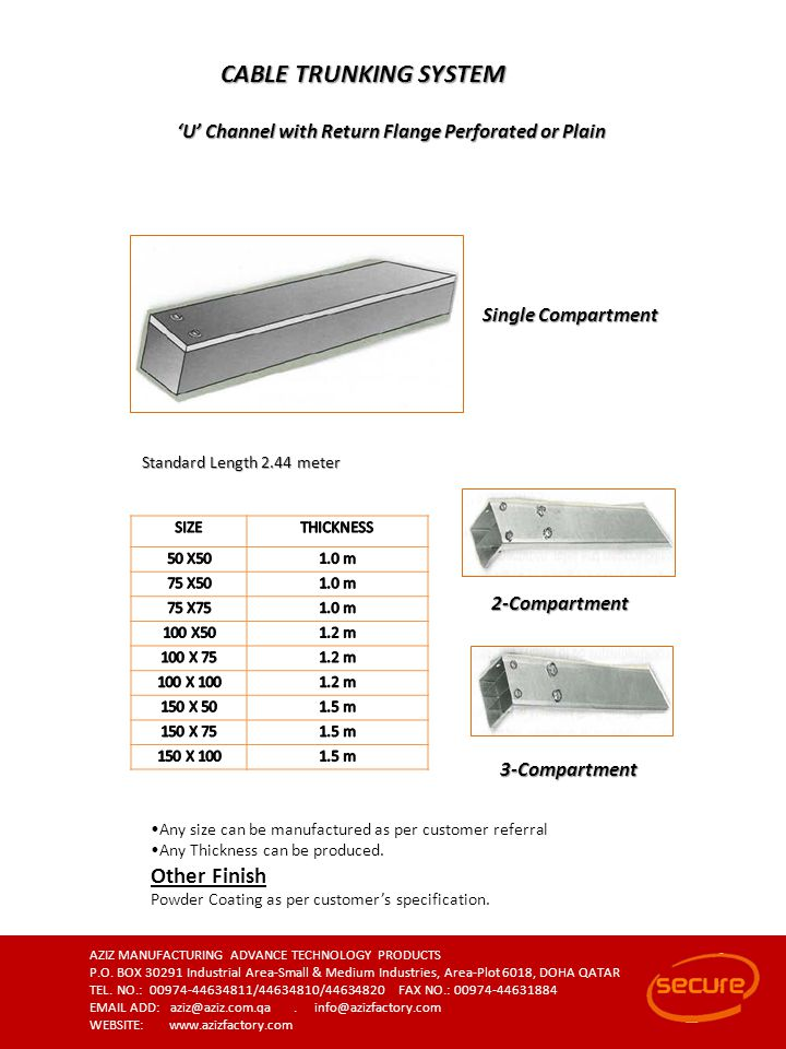 CABLE TRUNKING SYSTEM Other Finish