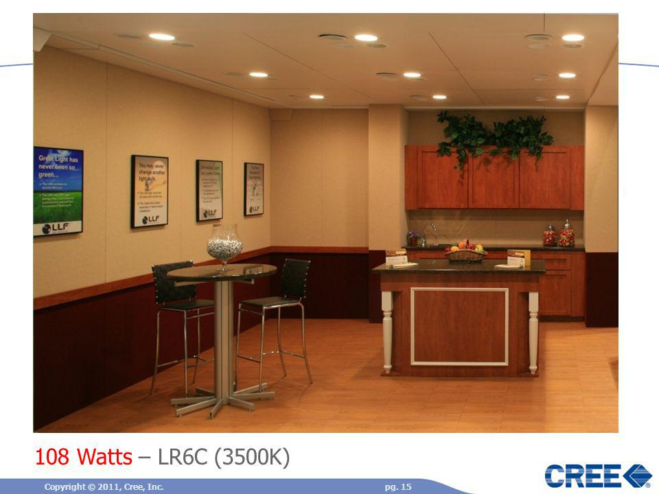 108 Watts – LR6C (3500K) Copyright © 2011, Cree, Inc.