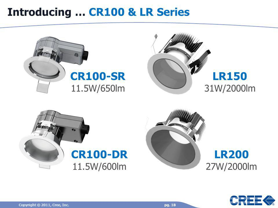 Introducing … CR100 & LR Series