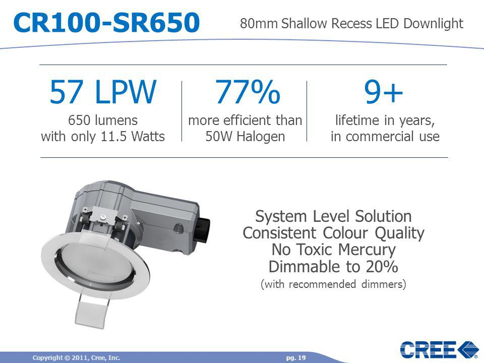 57 LPW 77% 9+ CR100-SR650 System Level Solution