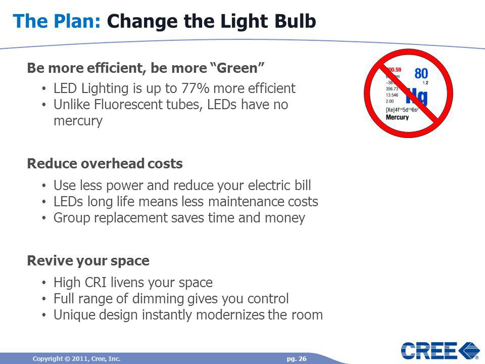 The Plan: Change the Light Bulb
