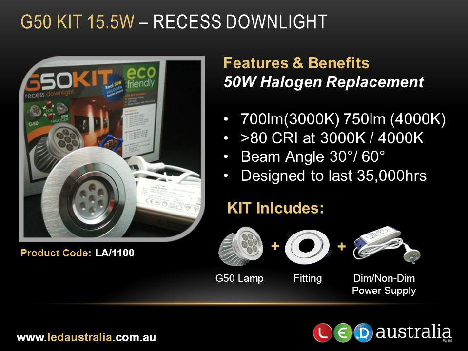 G50 Kit 15.5W – RECESS DOWNLIGHT