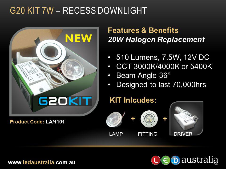 G20 Kit 7W – RECESS DOWNLIGHT