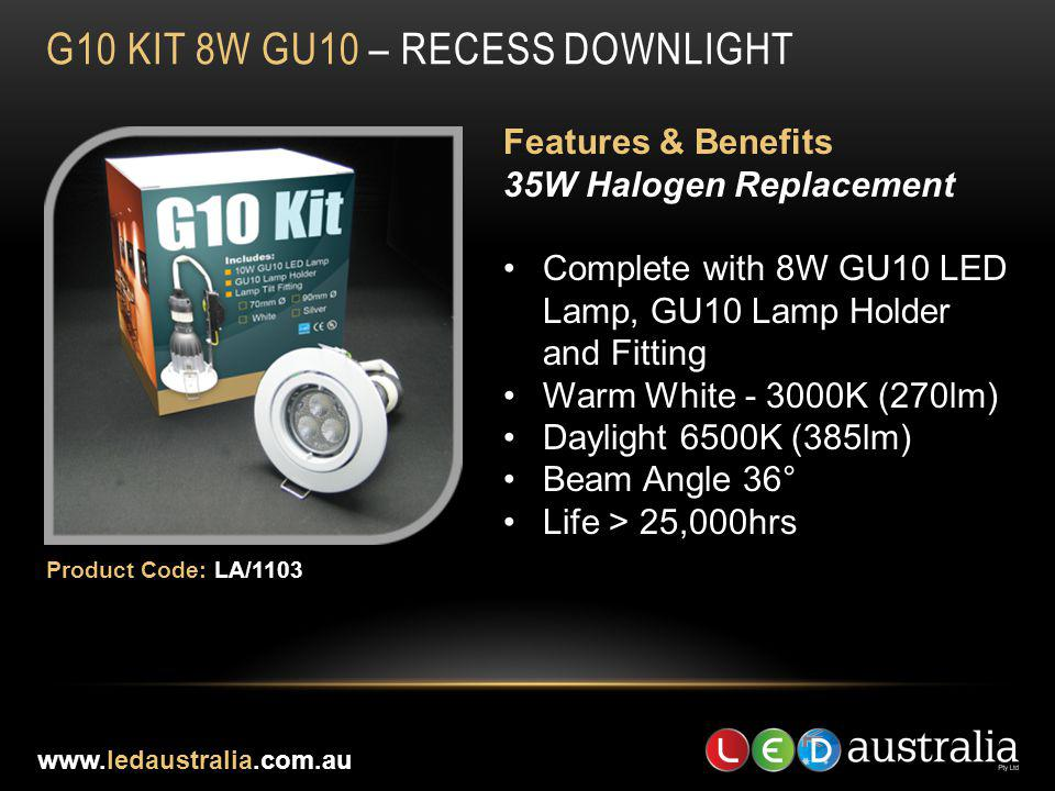 G10 Kit 8W gu10 – RECESS DOWNLIGHT