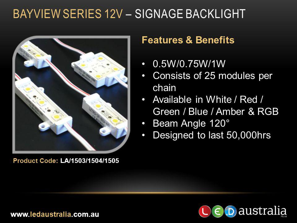 BAYVIEW SERIES 12V – SIGNAGE BACKLIGHT