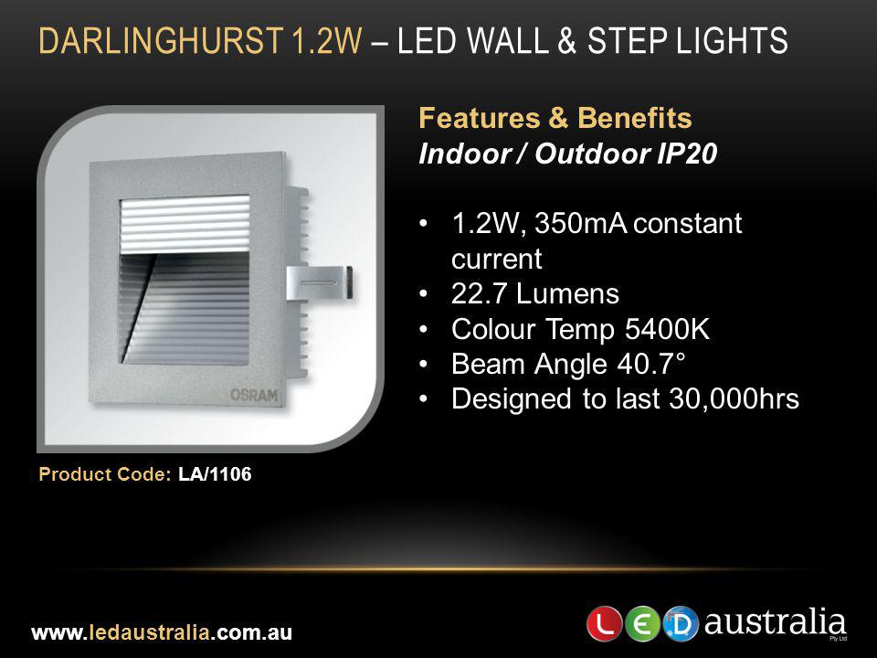 DARLINGHURST 1.2W – LED WALL & STEP LIGHTS