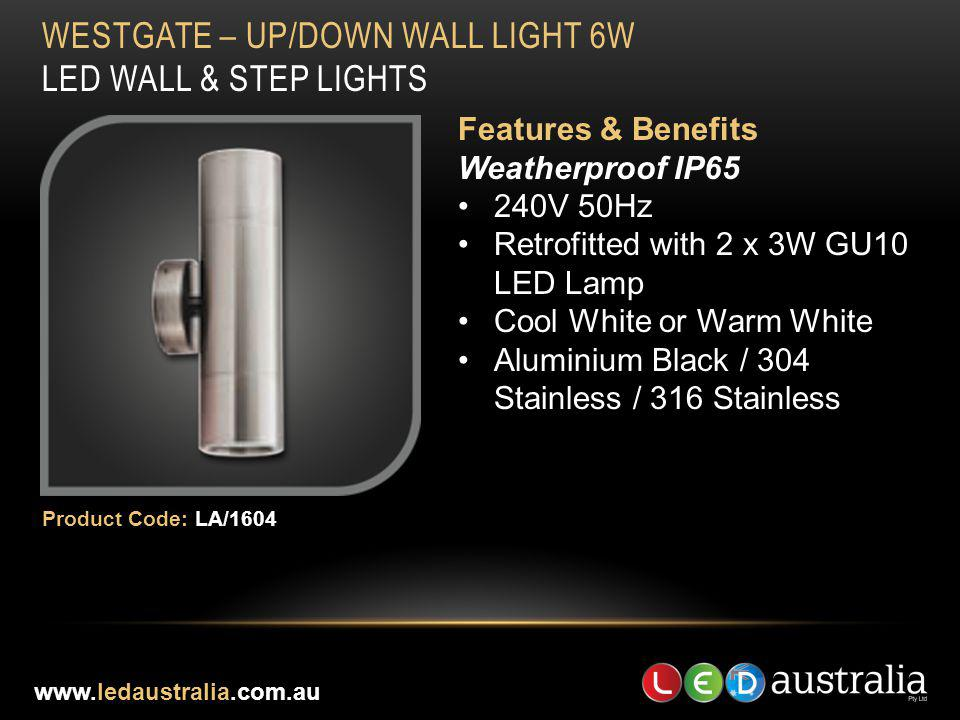 WESTGATE – UP/DOWN WALL LIGHT 6W LED WALL & STEP LIGHTS