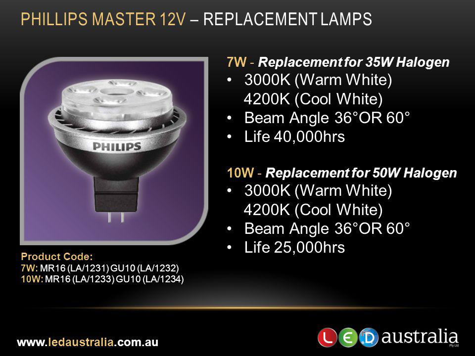 PHILLIPS MASTER 12V – REPLACEMENT LAMPS
