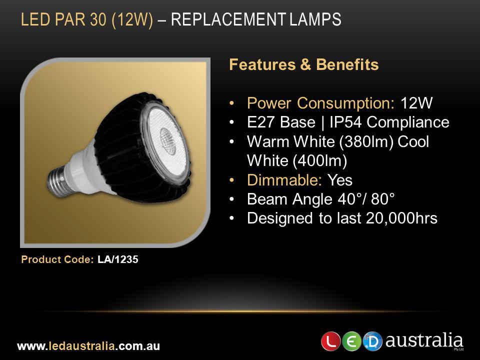 LED Par 30 (12w) – REPLACEMENT LAMPS