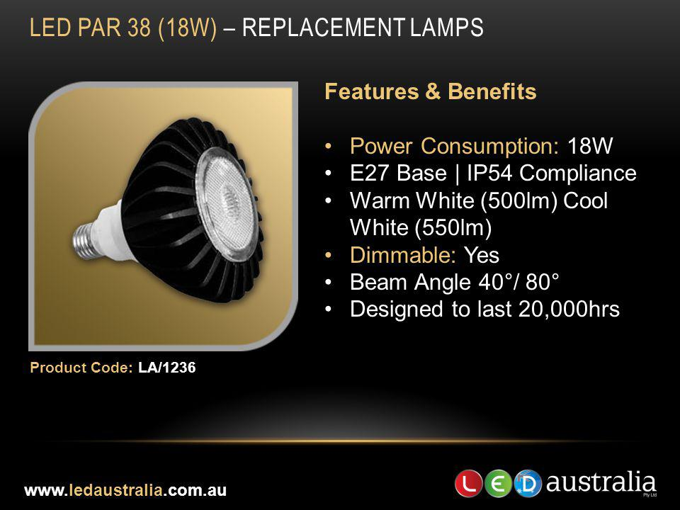 LED Par 38 (18w) – REPLACEMENT LAMPS