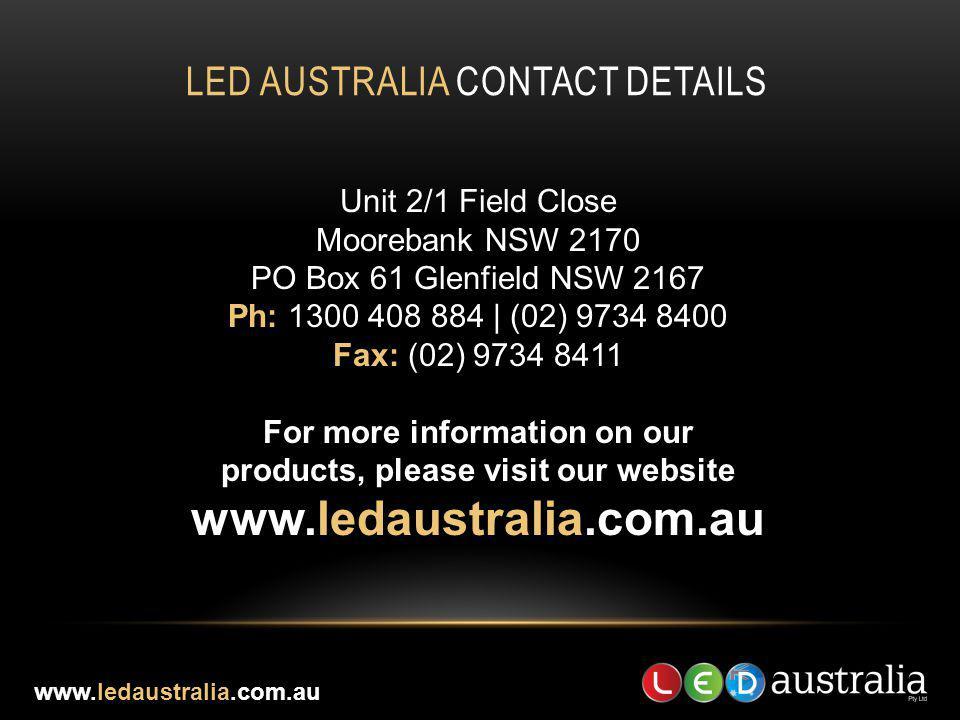 Led Australia contact details