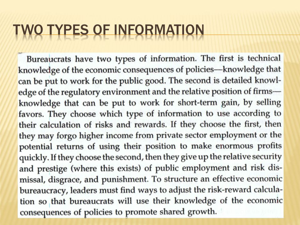 Two types of information