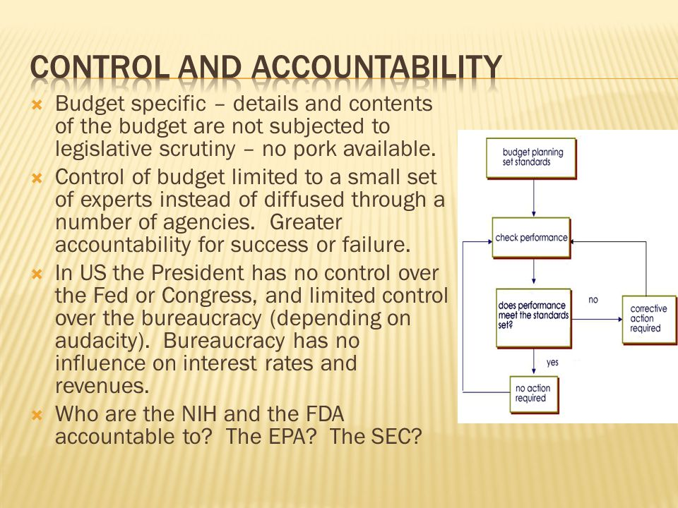 Control and accountability