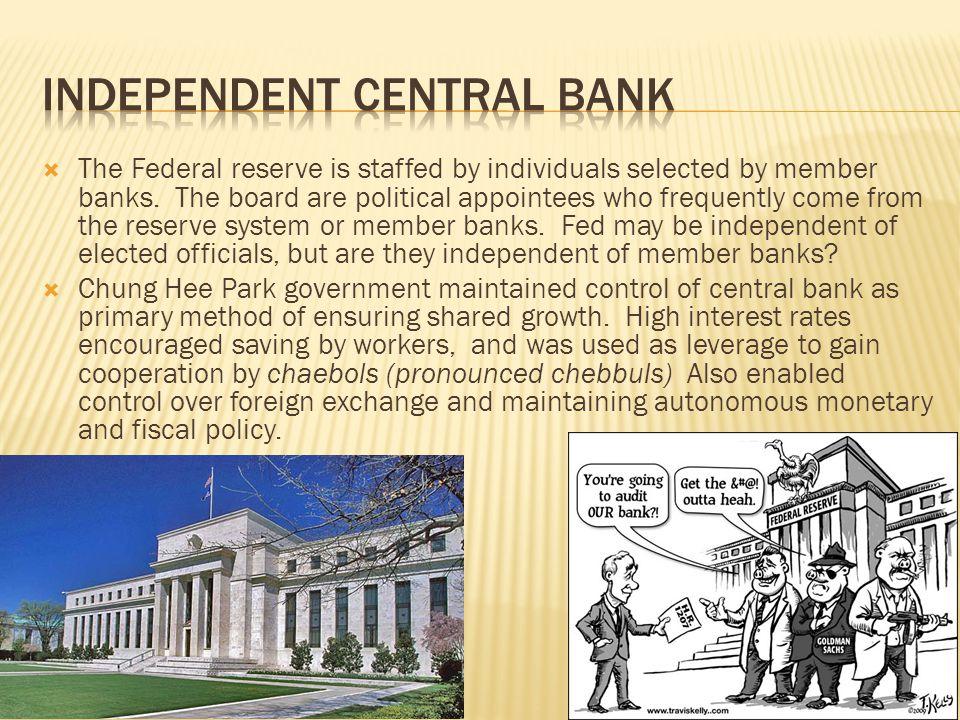 Independent central bank