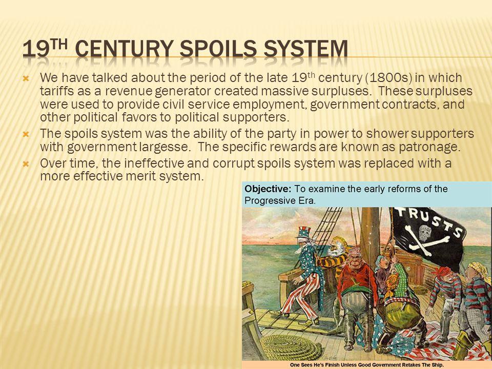 19th century spoils system