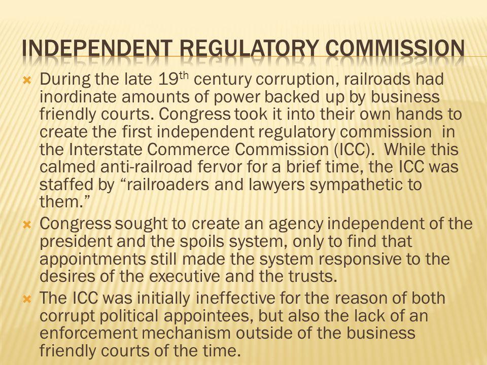 Independent regulatory commission