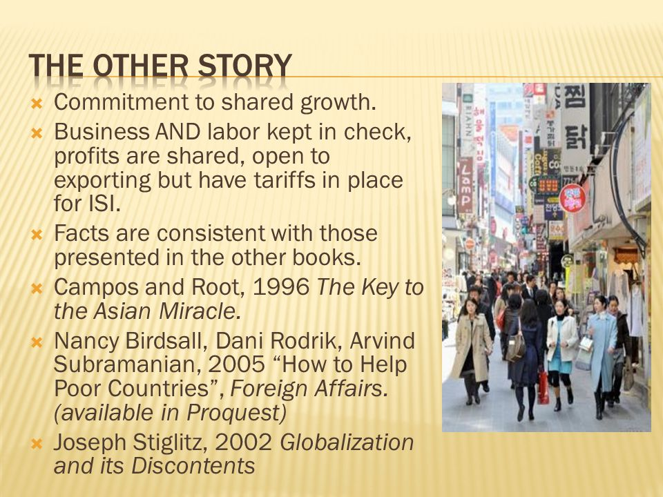 The other story Commitment to shared growth.
