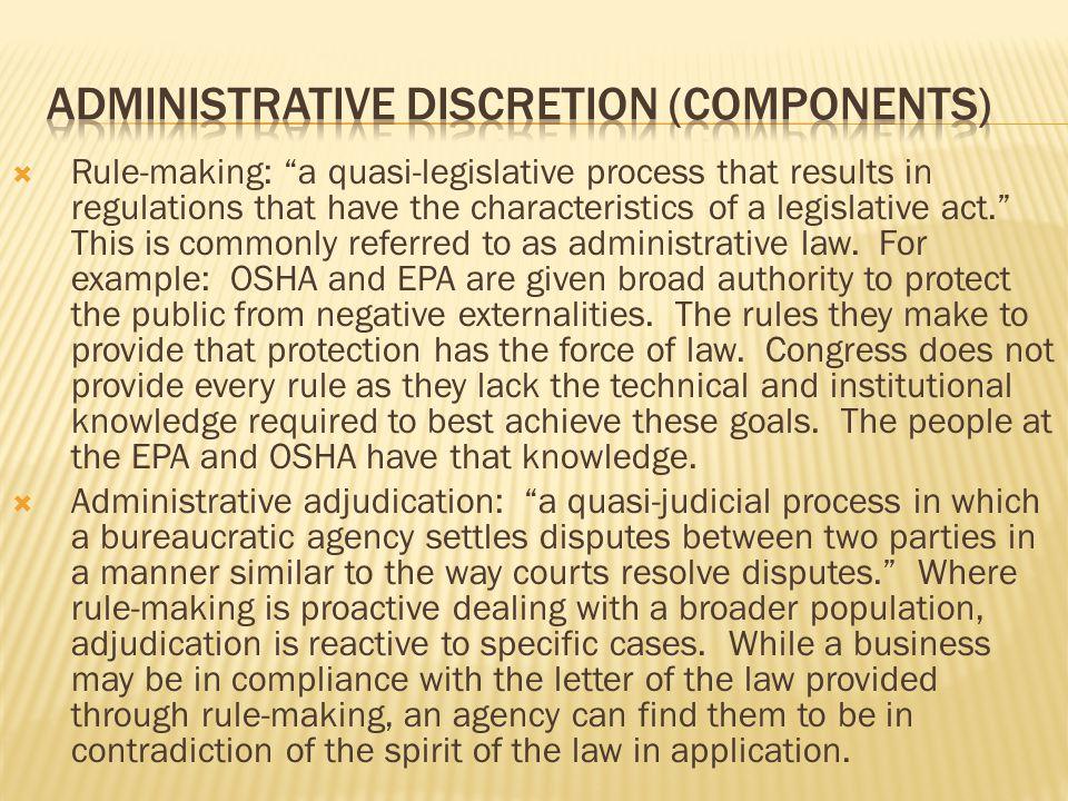 AdministRative discretion (components)