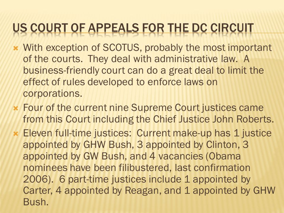 US court of appeals for the DC circuit