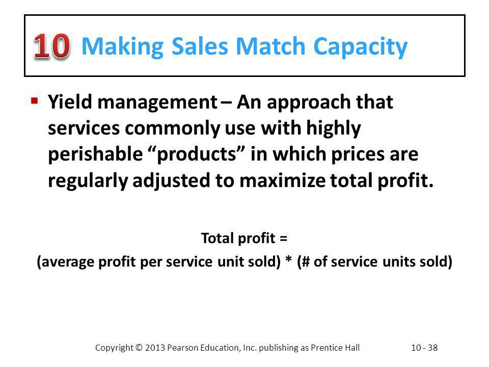 Making Sales Match Capacity