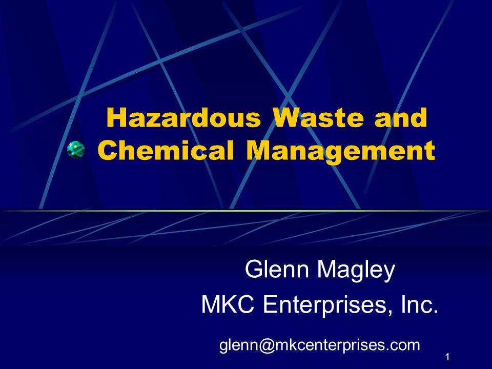 Hazardous Waste and Chemical Management