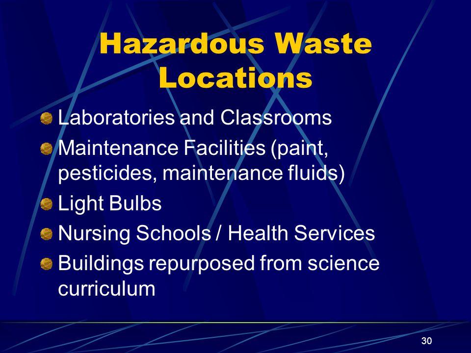 Hazardous Waste Locations