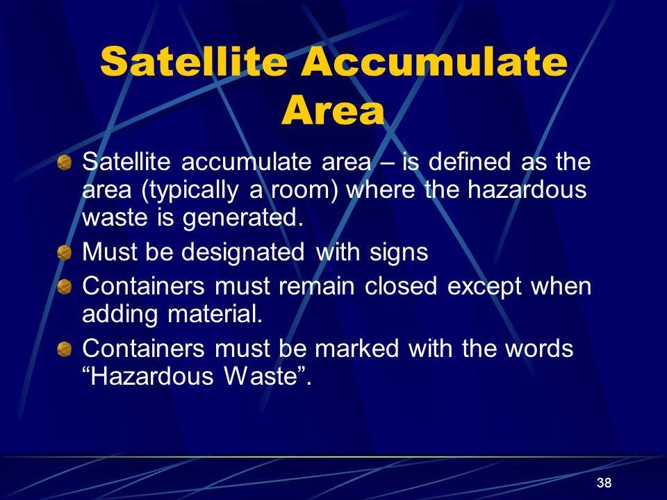 Satellite Accumulate Area