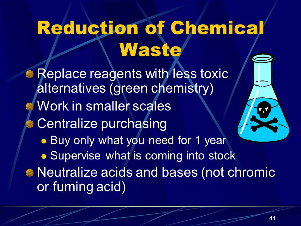 Reduction of Chemical Waste