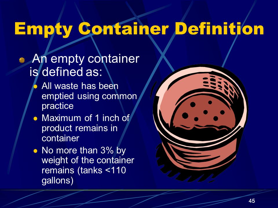 Empty Container Definition