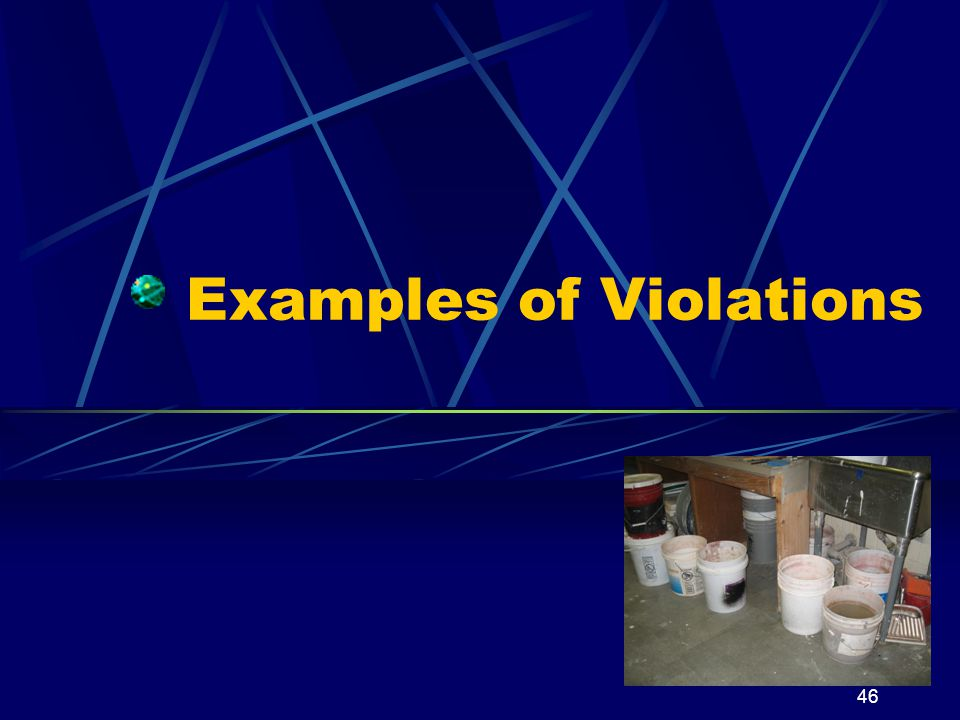 Examples of Violations