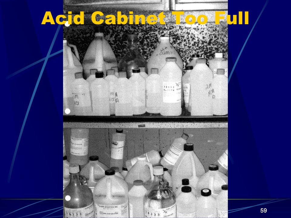 Acid Cabinet Too Full