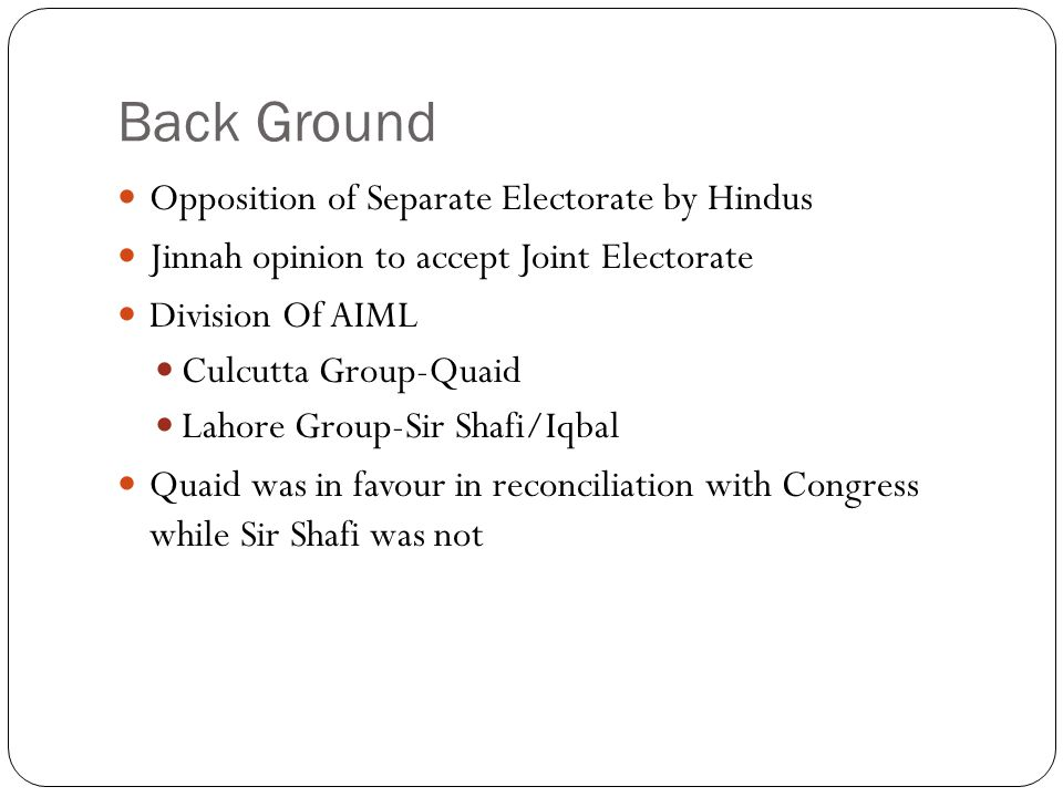 ppt on jawaharlal nehru in hindi language back ground opposition of separate electorate by hindus