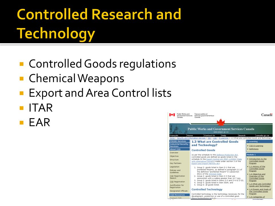Controlled Research and Technology