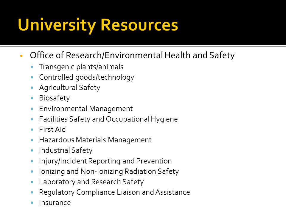 University Resources University Resources