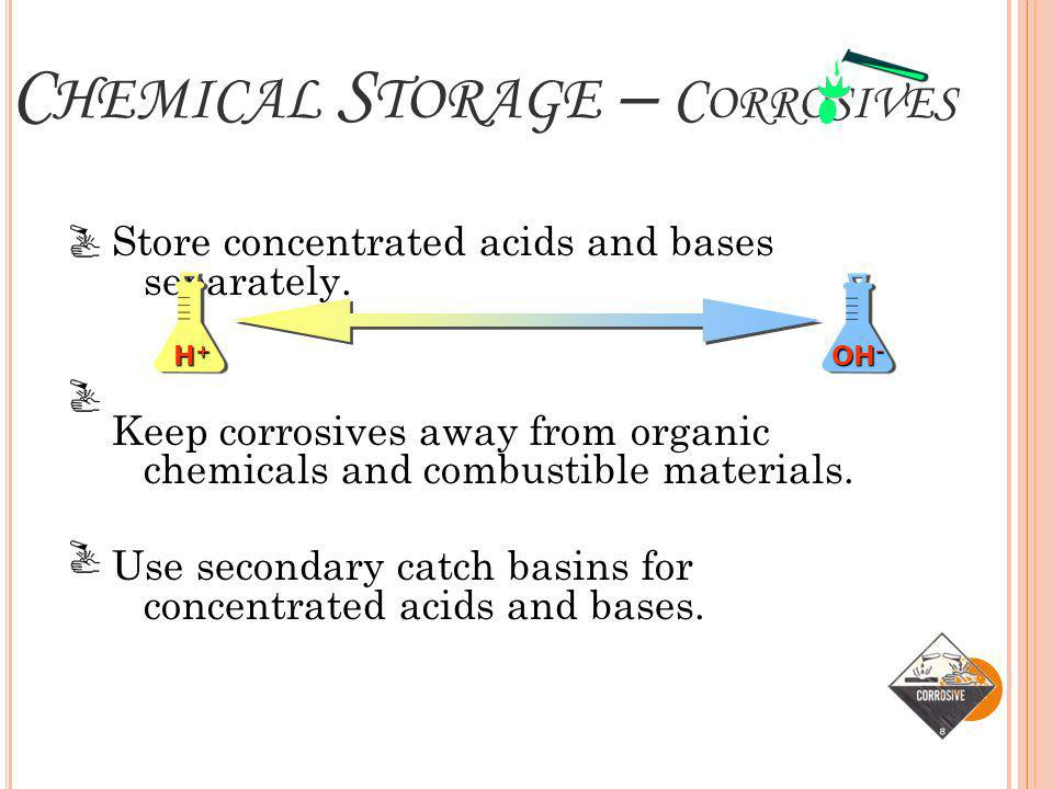 Chemical Storage – Corrosives