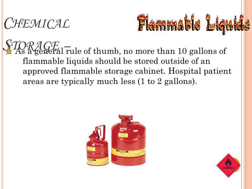 Chemical Storage –