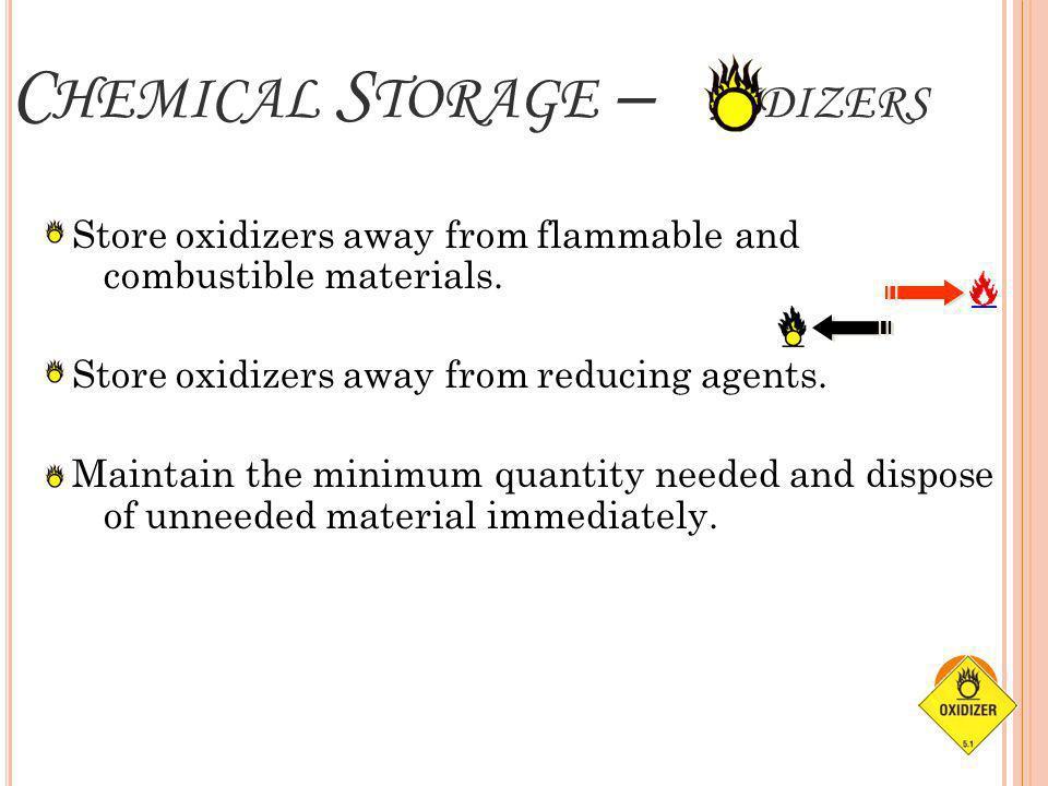Chemical Storage – xidizers