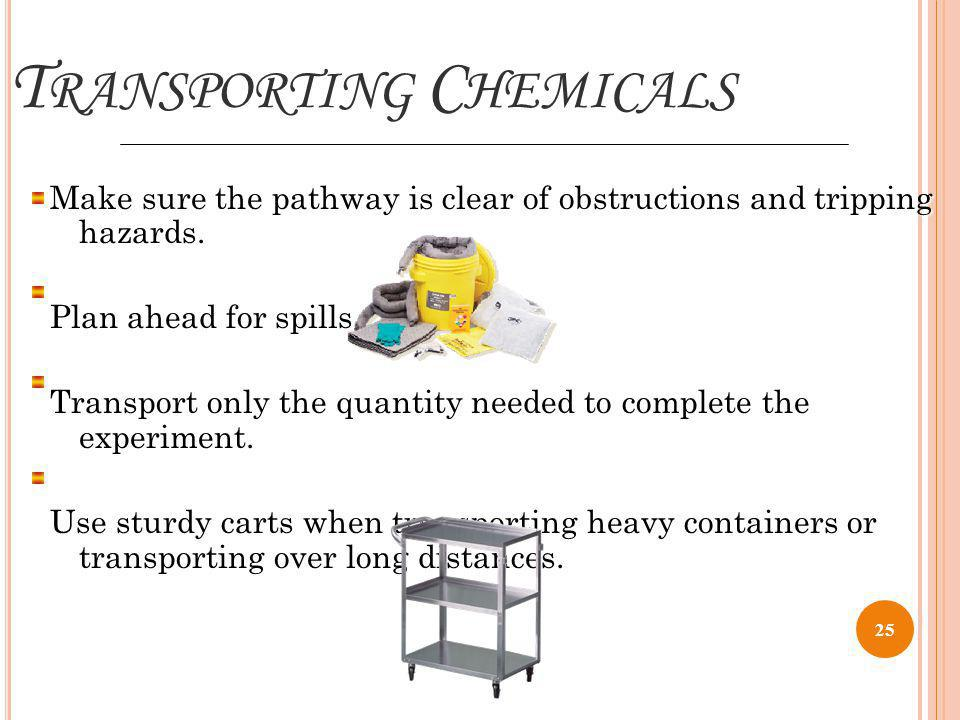 Transporting Chemicals