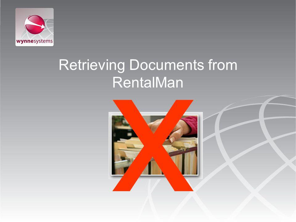 Retrieving Documents from RentalMan