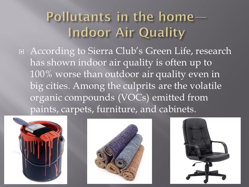 Pollutants in the home—Indoor Air Quality