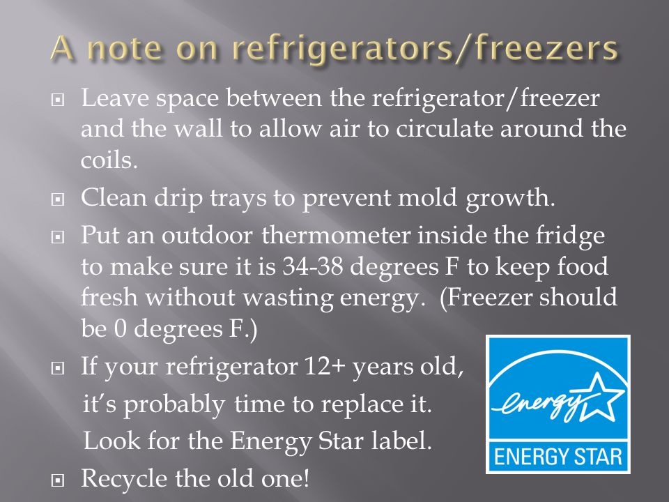 A note on refrigerators/freezers