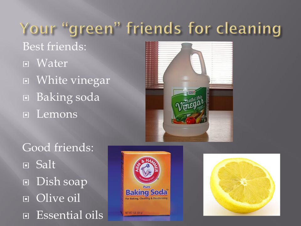 Your green friends for cleaning