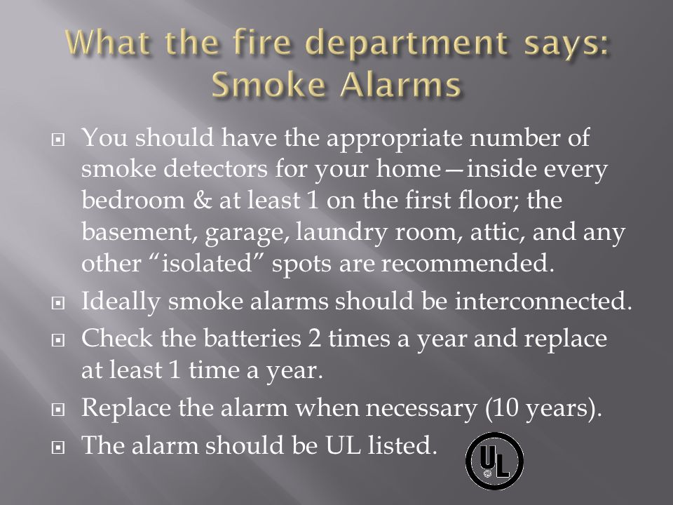 What the fire department says: Smoke Alarms